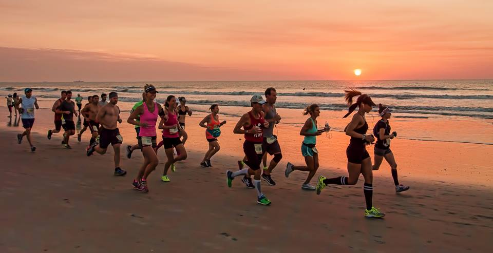 Cocoa Beach offers hard-packed and flat beaches ideal for running. This photo was taken on May 10, 2015 during the USA Beach Running Championships and is the same stretch of beach to be used for 2.9 miles of the Cocoa Beach Half Marathon.